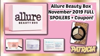 Allure Beauty Box November 2019 FULL SPOILERS + Coupon!