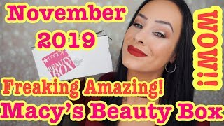 Freaking Amazing!! Macy's beauty box/November 2019
