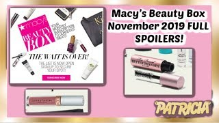 Macy's Beauty Box November 2019 FULL SPOILERS!