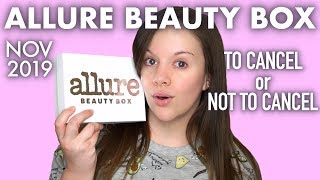 ALLURE BEAUTY BOX | November 2019 | UNBOXING & TRY ON