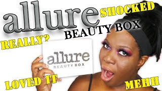 ALLURE November 2019 BEAUTY BOX!! Unboxing & TryOn!