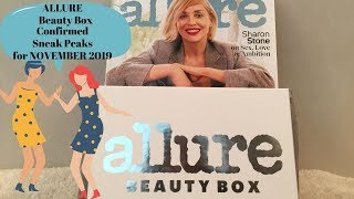 Allure Beauty Box November 2019 Confirmed Sneak Peaks from Allure Magazine with Surprise Alternative