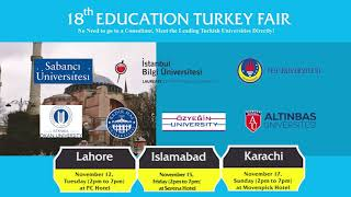 18th EDUCATION TURKEY FAIR: NOV 2019