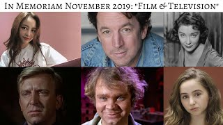 In Memoriam November 2019 Stars we lost in TV & Film #InMemoriam #CelebrityNews