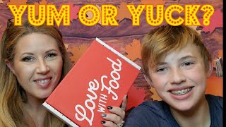 Love With Food November 2019 unboxing!  Yum or Yuck?