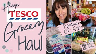 HUGE TESCO GROCERY HAUL UK | WEEKLY FOOD NOVEMBER 2019 SHOP FAMILY OF 6 | MUMMY OF FOUR