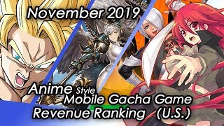 (U.S)November 2019 Anime Gacha Mobile Game Revenue Tier List