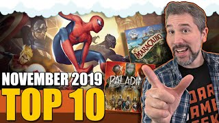 Top 10 Hottest Board Games: November 2019