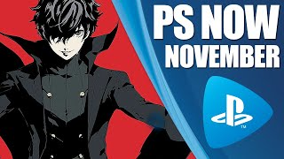 PlayStation Now New PS4 Games - November 2019