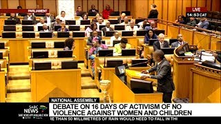 National Assembly debates 16 Days of Activism: 03 December 2019