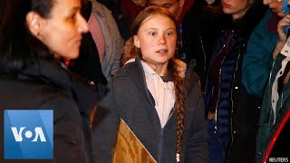 Climate Activist Greta Thunberg Temporarily Leaves Climate March Due to Safety Concerns