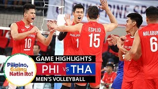 Philippines vs. Thailand  - December 8, 2019 | Men's Volleyball | Game Highlights | 2019 SEA Games