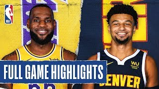 LAKERS at NUGGETS | FULL GAME HIGHLIGHTS | December 3, 2019