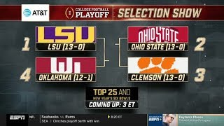 College Football Playoff Selection Show | (December 8th, 2019)