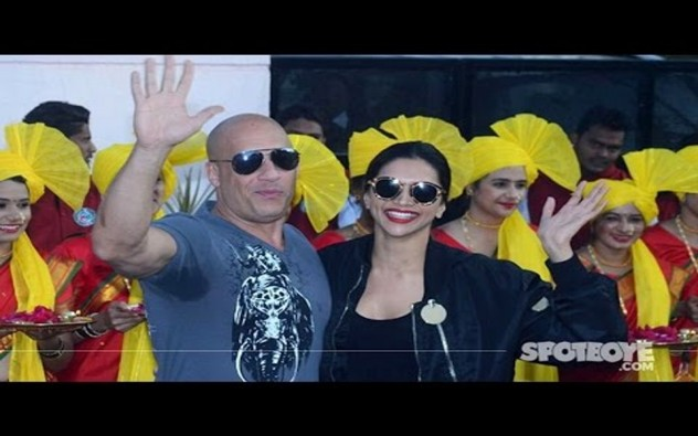 Deepika Padukone Welcomes Vin Diesel In India at the Airport | xXx: Return Of Xander Cage | SpotboyE