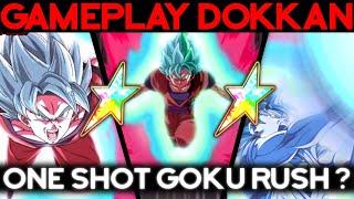 Goku Bleu Kaioken 100% = One Shot Goku Rush ? DOKKAN