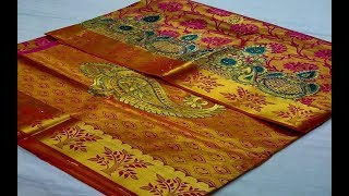 2019 Fashions Self Design Stone Work Silk Sarees || heavy stone work saree/Work Sarees