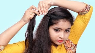 She Fashions Self Hairstyle for Girls || Self Hairstyles 2019 || Quick Hairstyles for Party/Wedding