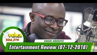 ENTERTAINMENT REVIEW ON PEACE 104.3 FM  (7/12/2019)
