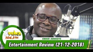 ENTERTAINMENT REVIEW ON PEACE 104.3 FM   (21/12/2019)