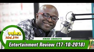 ENTERTAINMENT REVIEW ON PEACE 104.3 FM (17/10/2019)