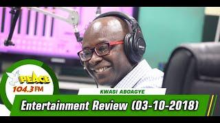 ENTERTAINMENT REVIEW ON PEACE 104.3 FM (3/10/2019)
