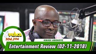 ENTERTAINMENT REVIEW ON PEACE 104.3 FM (2/11/2019)