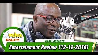 ENTERTAINMENT REVIEW ON PEACE 104.3 FM (12/12/2019)