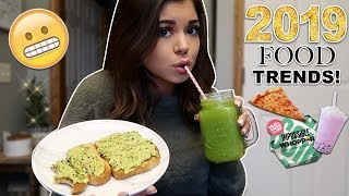 Eating 2019 Food Trends for 24 Hours CHALLENGE!