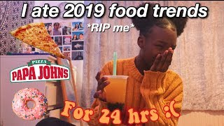 I ate 2019 food trends for 24 hours!