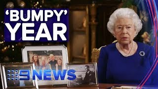 The Queen admits to 'bumpy' year in annual Christmas message | Nine News Australia