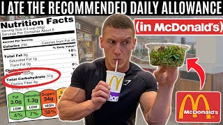 Eating the recommended daily allowance in McDonald's