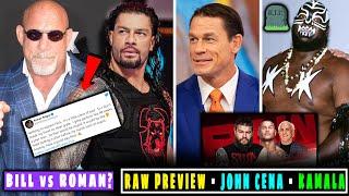 "Goldberg ""Roman You're a joke""😱 Cena Underground⚡ Kamala⚰️ WWE RAW 11 August 2020 Highlights Preview"