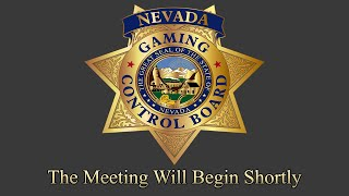 August 2020 Nevada Gaming Control Board Meeting