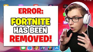 Fortnite Mobile has been *REMOVED* from the App Store... (the end of mobile)