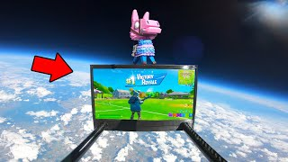 Winning A Game Of Fortnite From The Edge Of Space