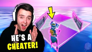 Reacting To A *REAL* Macro Cheater In Fortnite...