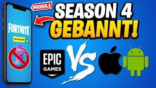 🔥 Apple BANNT Fortnite! KEIN SEASON 4 UPDATE! Epic verklagt Apple & Google | Fortnite News