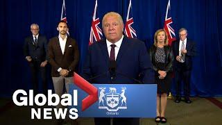 "Coronavirus: Ontario taking 4-week ""pause"" on reopening, loosening COVID-19 measures | FULL"