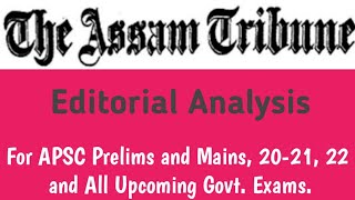 September 9, 2020- The Assam Tribune Editorial Analysis | HSTDV MISSILE TECHNOLOGY