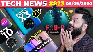 FAU-G Coming In October,POCO X3 Price,Redmi Note 10 Leaked,POCO M2=Redmi 9 Prime, OP Clover-#TTN823
