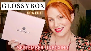 GLOSSYBOX SEPTEMBER SPA EDIT BEAUTY UNBOXING WORTH £115 + ADVENT CALENDAR INFO