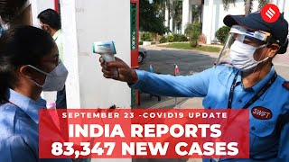 Coronavirus on Sept 23, India reports 83,347 new Covid-19 cases in 24 hours