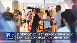 12 new Covid-19 cases confirmed on Sept 23; 1 community, 4 imported | THE BIG STORY