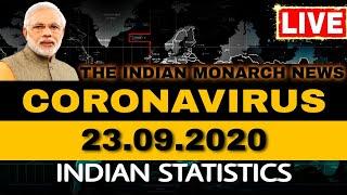 CORONAVIRUS INDIA TRACKER - 23 SEPTEMBER 2020 | STATE-WISE INDIAN STATISTICS | COVID-19 STATUS NEWS