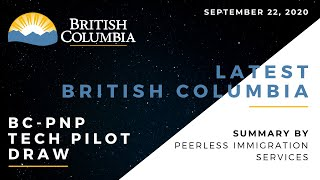 Latest BCPNP Tech Pilot Draw | British Columbia, Canada