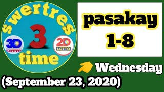 Swertres time; Swertres hearing today | 3D lotto and 2D lotto (September 23, 2020)