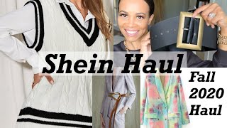HUGE FALL SHEIN HAUL AND REVIEW | FALL CLOTHING HAUL SEPTEMBER 2020 | by Crystal Momon