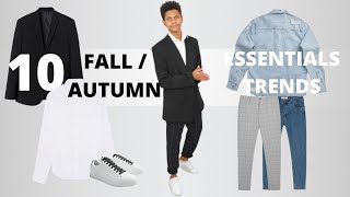 10 Fall / Autumn Essentials / Trends 2020 Every Man Must Have | Men's Fashion | Étienne World