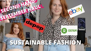 Second Hand September Haul || SUSTAINABLE FASHION WITH DEPOP, EBAY AND CHARITY SHOPS
